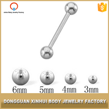 Unique Design Body Jewelry Stainless Steel Middle Finger Tongue Barbell For Sexy Boy