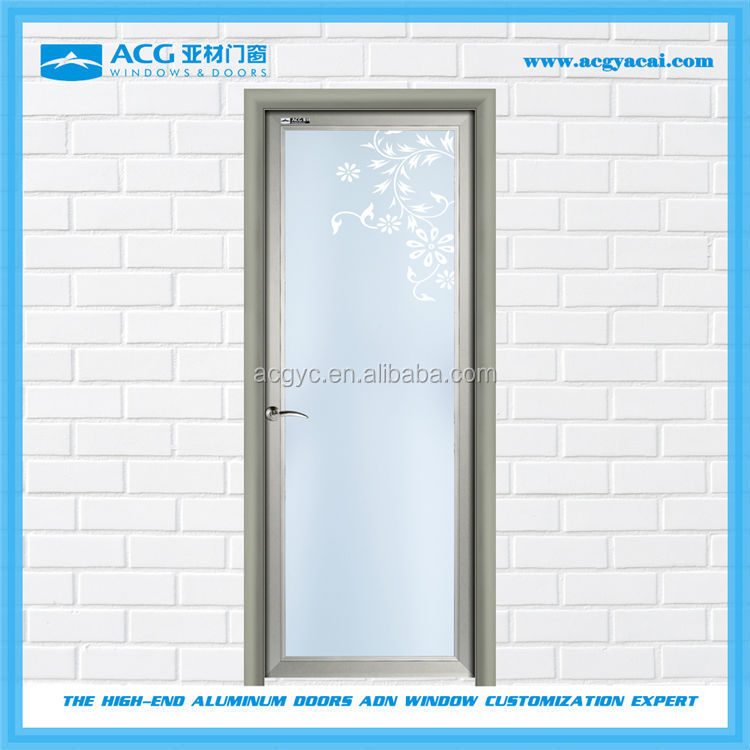Long service life interior Glass thickness 4-<strong>12mm</strong> aluminum glass door
