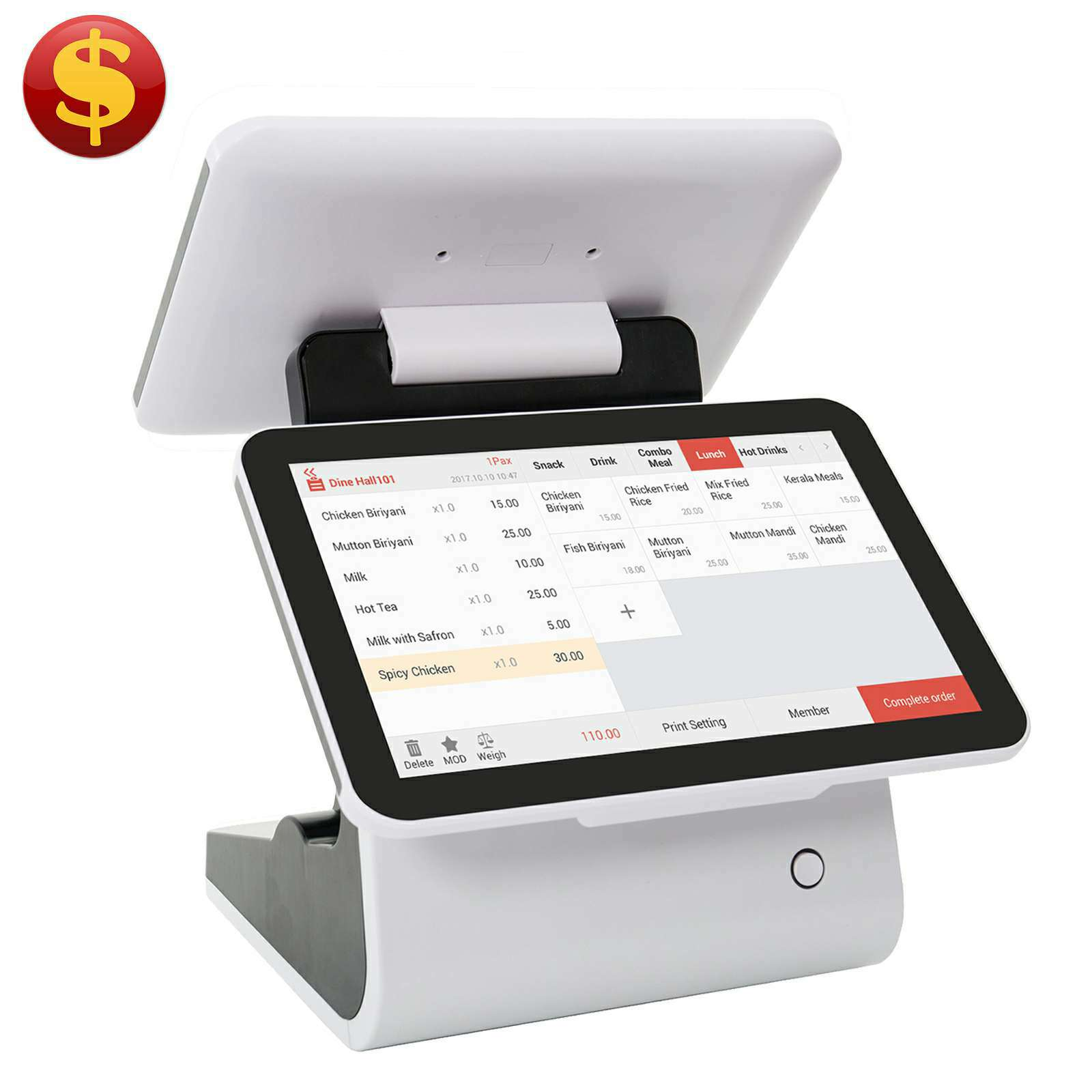 New Style cash register portable for grocery store