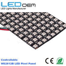8*32 Digital RGB LED Matrix is consist of WS2812B RGB LED WS2812B is a 5050 components that integrate control circuit and RGB c