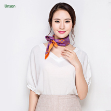 Pocket fashion custom printing pure silk square scarf from chinese factory