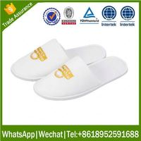 disposable eva Indoor slipper terry thong bedroom slippers with embroidery logo