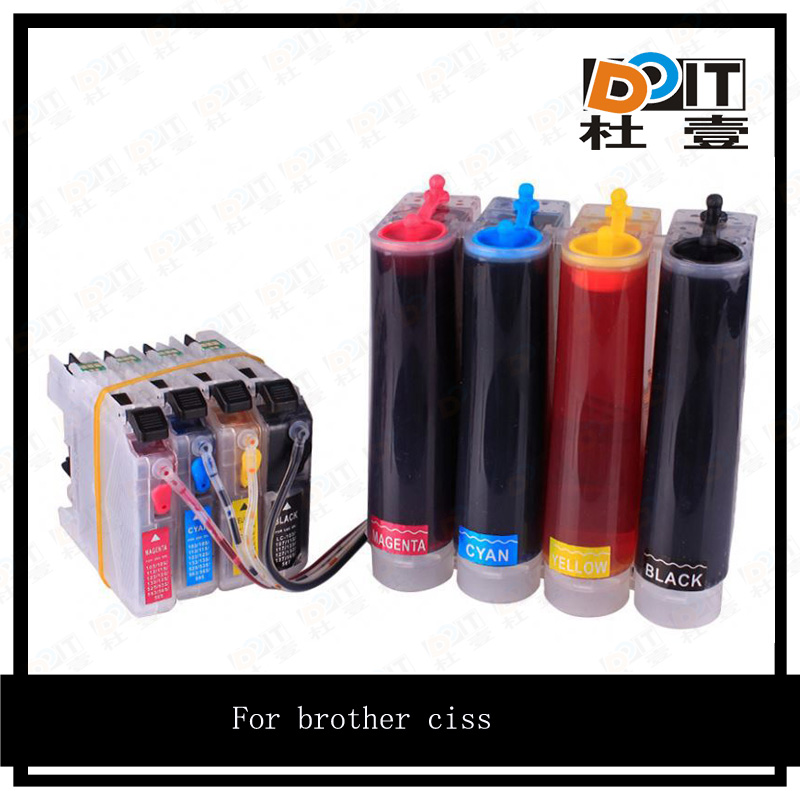 DIY ciss tank 4 color system for brother LC203/LC201 printer ciss