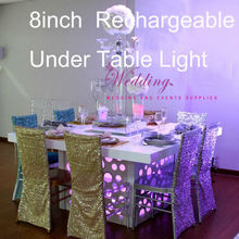 Wedding Table Centerpiece Lighting !!! 8inch round Remote Controller LED Lights Base Battery Operated