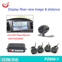 auto car backup parking sensor with rear view camera