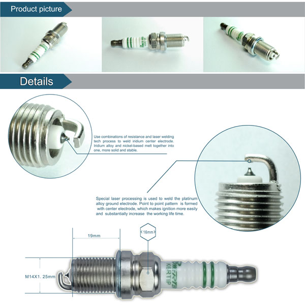 SUZUKI GSX-R1000(K6 K7) /ridium and platinum electrode spark plug