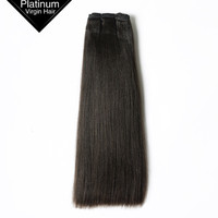 Highest Quality 100% Unprocessed Yaki Hair Natural Color Double Layer Weft Hair Extension