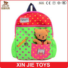 custom children canvas schoolbag hot selling schoolbag kids travel backpack