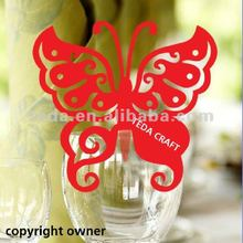 2012 Hot selling: Laser cut Butterfly place cards for wedding decoration