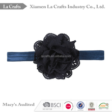 Navy Rose flower infant baby headband, lastest design baby