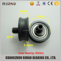 Elevator door pulley 6202zz 43mm roller with screw shaft lift door hanger roller
