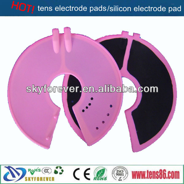 pink silicone electrode /tens unti pads for breast massager