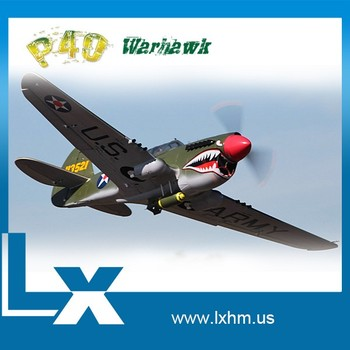 Lx large scale p40 rc airplane factory