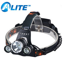 Rechargeable Head Lamp 6000LM 3 XML T6 LED Most Powerful Headlamp
