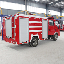 Hot Sale 6 Wheels Fire Engine 45L/S Water Tank Fire Truck