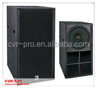 professional 21 inch subwoofer + horn loaded speaker box