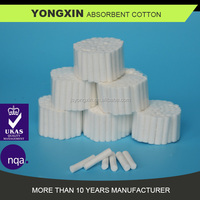 Chinese factory Dental absorbent Surgical cotton roll ,1.0cmx3.8cm,cheap prices and CE ISO certificate