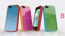 case for iphone 5/5s/5c creative style maze game silicone phone case cover