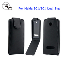 Simple Back Cover For Nokia N301 Leather Case