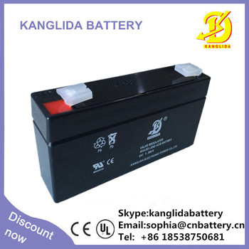 Big Discount 6v1.3ah maintenance free sealed battery lead acid battery