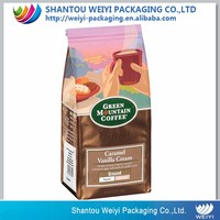 custom printing brown kraft paper bag coffee bag coffee beans bag with tin tie for 50g coffee