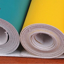 Microfiber leather with PU coating for shoes and sofa