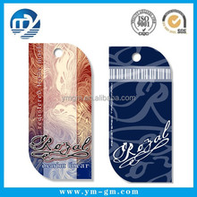 New China design jeans paper hang tag for clothing