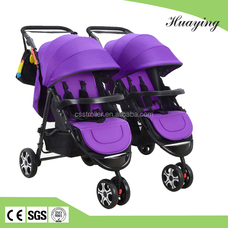 2017 fashion double way used twins baby stroller twins baby carrier three wheels