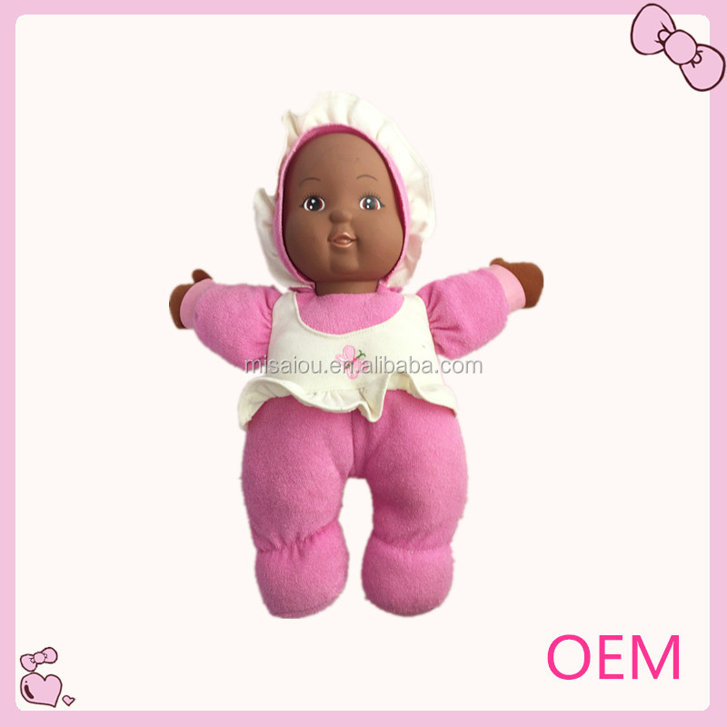 wholesale fashion beautiful plush baby doll toys in dress