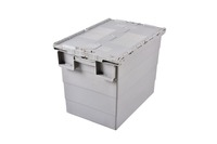 plastic crates stackable turnover box with lid plastic moving crate