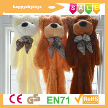 Happy kid toys!!!giant teddy bear skin,wonderful teddy bear,wholesale unstuffed bear skin