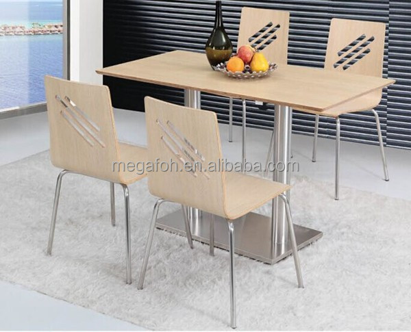 New coming canteen 4 seater dining table and chairs set (FOH-BC14)
