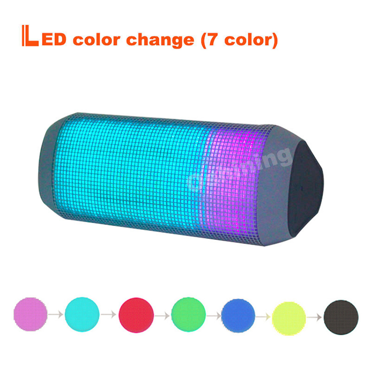 OEM multicolor LED triangle mini portable charger blue-tooth wireless speaker