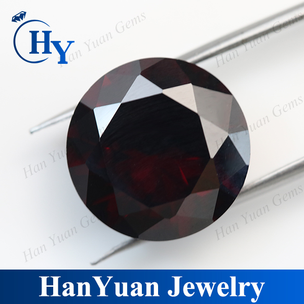 2mm Dark garnet stone wholesale round brilliant cut cz stone