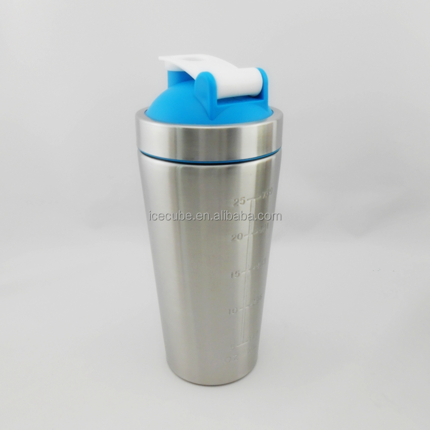 BPA Free wholesale protein shaker bottle shaker cup with Metal ball