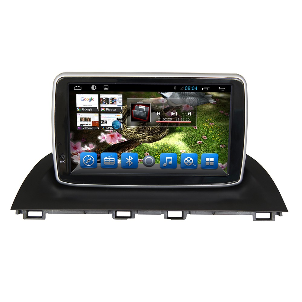 Glonass/GPS Android 4.4 Mirror-link Car Radio DVD player For 2014 New Mazda 3 Auto radio GPS Navigation