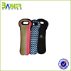 Beer bottle cooler sleeve/neoprene zip up beer bottle sleeve