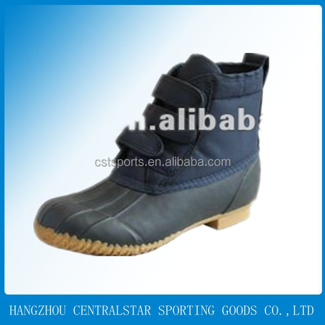 Ladies winter high heel warm cheap rubber duck snow boots