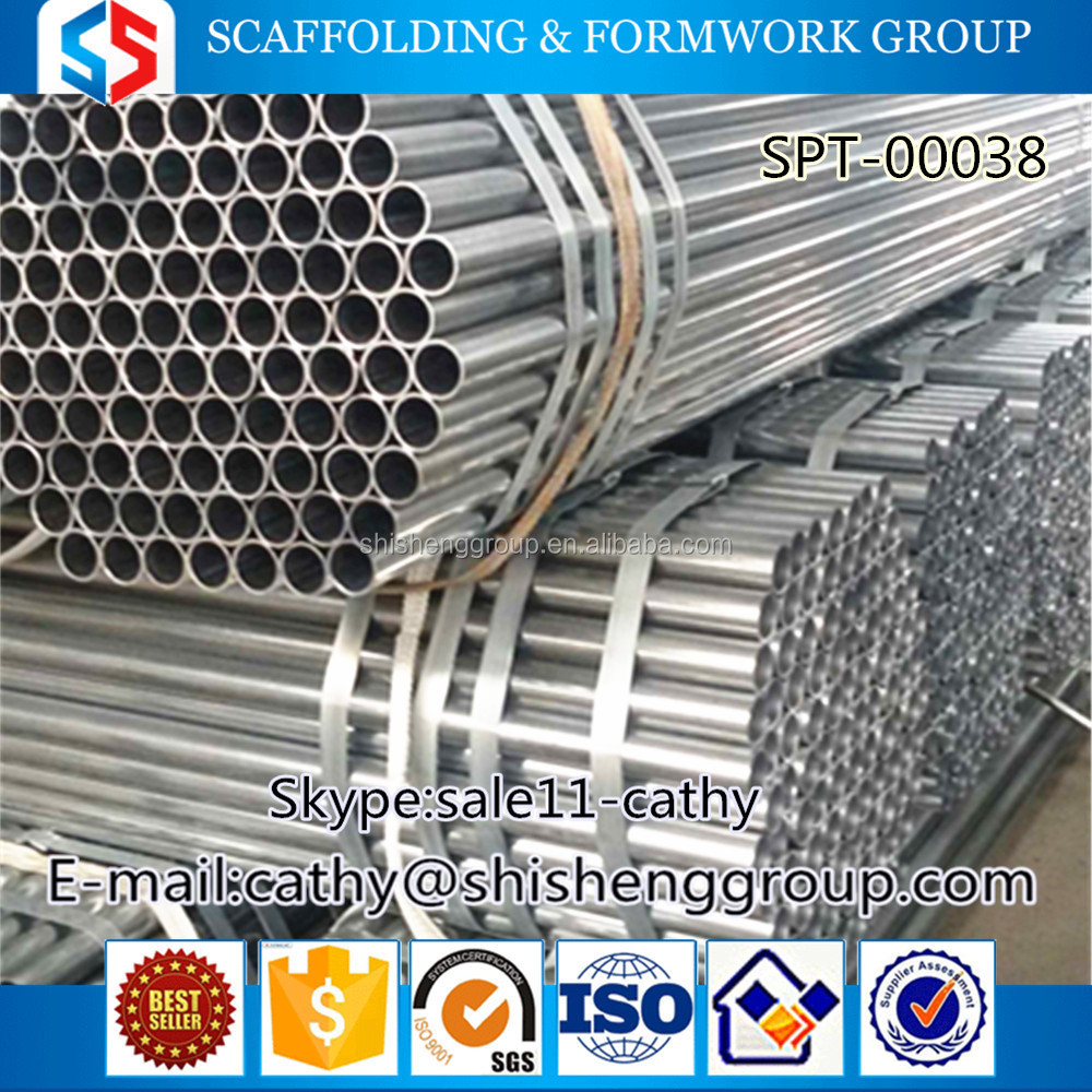 Tianjin Shisheng BS1139 Galvanized Scaffolding Pipe for Sale