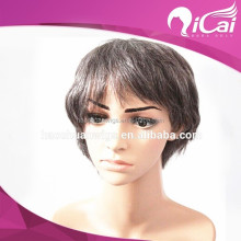 "16"" short grey hair 100 full lace wigs for women"