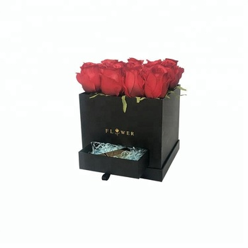 Wholesale different colors decorative square flower box
