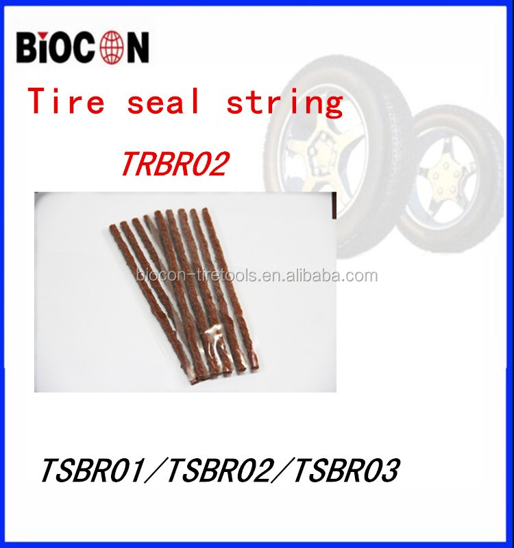100*6mm brown or black rubber tire repair Seal strings/vulcanizing tubeless repair seal strings
