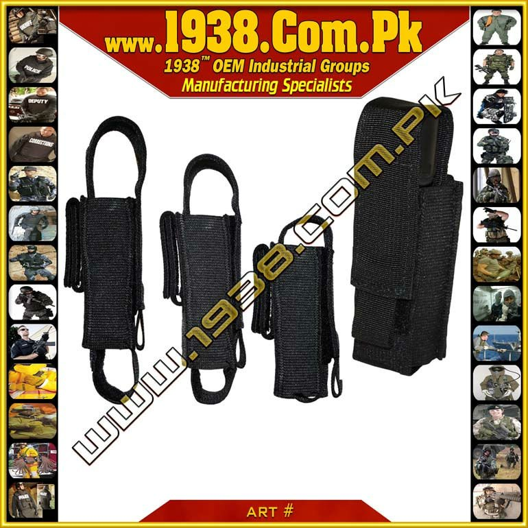 Tactical Adjustable Flashlight Pouch {- Made-To-Order -}