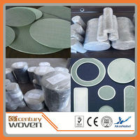round wire mesh round hole air filter wire mesh