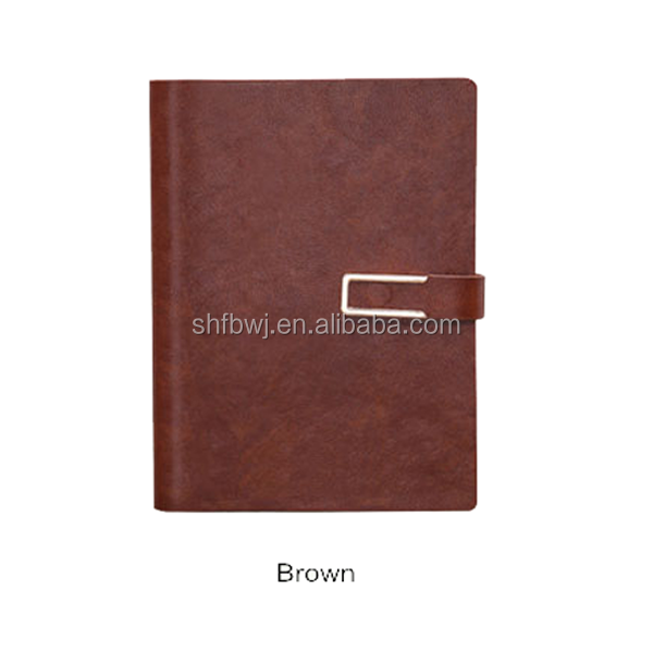 spiral bound leather notebook with custom design