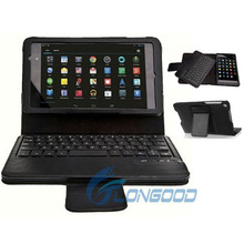 Removable Mini Wireless Bluetooth Keyboard Leather Case For Google Nexus 7
