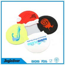 waterproof durable soft promotion novelty Silicone swim cap that keeps hair dry
