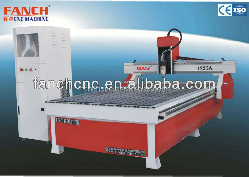 FANCH 1325A series basic industry cnc router auto tool changer, table moving, drilling group, multiple heads