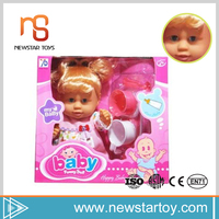 shantou best quality sleeping silicone baby doll for sale with toys