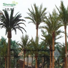 SJZJN 256 Fake Outdoor Decorative Palm Trees Plastic Palm Tree, Plastic Palm trees for sale, fiberglass Artificial Date Palm tre